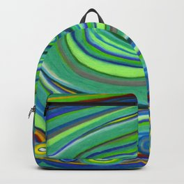 Vibrant Pastel on Suede Tree Ring Abstract by annmariescreations Backpack