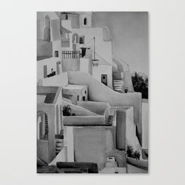 GREECE (black and white) Canvas Print