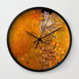 THE LADY IN GOLD BLOCH BAUER - GUSTAV KLIMT Wall Clock