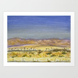 I-10 near Indio, CA Art Print