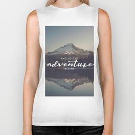 Trillium Adventure Begins - Nature Photography Biker Tank