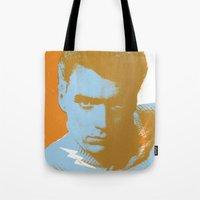 clint barton Tote Bags featuring clint by zemoamerica