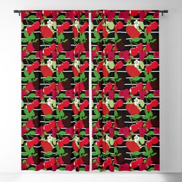 Juicy Fruit Stripe Blackout Curtain