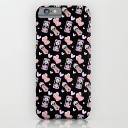 Japanese Pastel Goth Hourglass Candy Skull Pattern iPhone Case