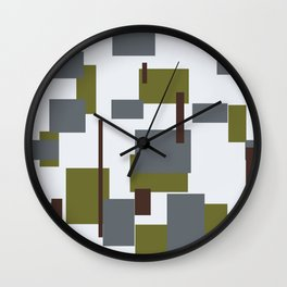 Autumn collage Wall Clock