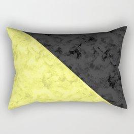 Black , yellow , lemon Rectangular Pillow