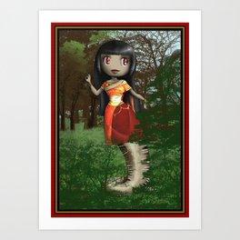 Dance like Naga Art Print