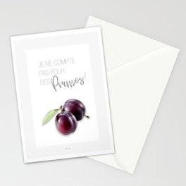 Affiche prune Stationery Cards