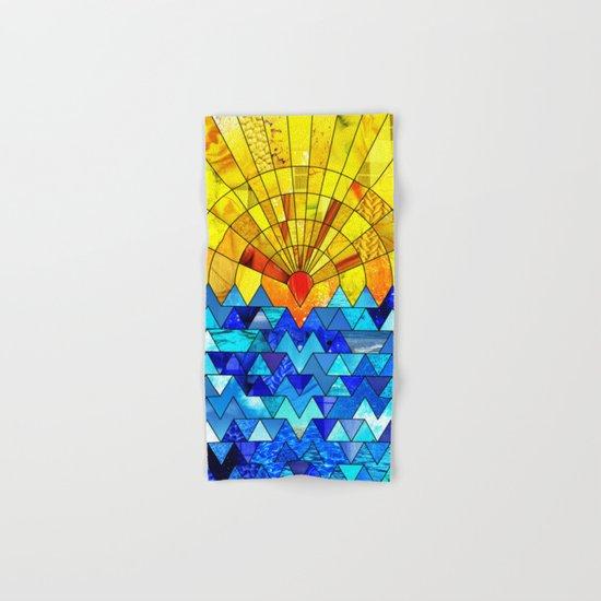 Sun & Sea Collage Hand & Bath Towel