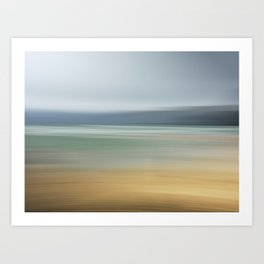 Beach Shoreline motion abstract  Art Print