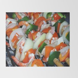 Shrimps Throw Blanket