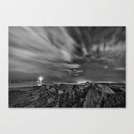 Rocky Lighthouse Canvas Print