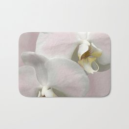 Pink and White Orchids, Shabby Chic Digital Wall Art Bath Mat