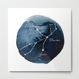 Virgo Zodiac Constellation Metal Print
