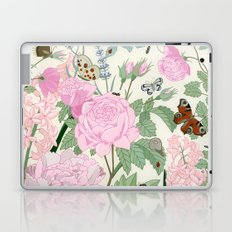 Pink flowers and butterflies Laptop & iPad Skin