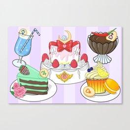 Inner Senshi Sweets Canvas Print