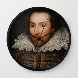 Vintage William Shakespeare Portrait Wall Clock