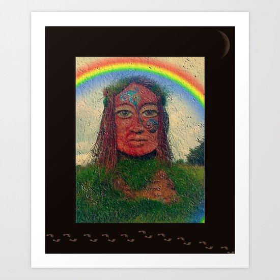 Rainbow Irish StoneFace Art Print