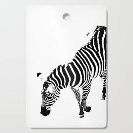 A Zebra in Black and White Cutting Board