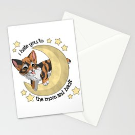 Fish - To the moon and back Stationery Cards