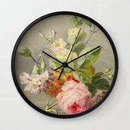 "George Jacobus Johannes van Os ""Floral Still Life"" Wall Clock"