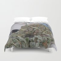medical Duvet Covers featuring Silver Afghan Medical Marijuana by BudProducts.us