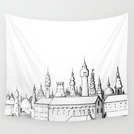 fabulous city . art . black and white Wall Tapestry