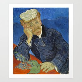Vincent van Gogh - Doctor Paul Gachet (1890) Art Print