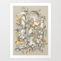 inner demons Art Prints featuring Inner Demons by Katie Owens