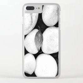 Zen White Stones On A Black Background #decor #society6 #buyart Clear iPhone Case
