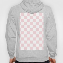 Checkered - White and Light Pink Hoody