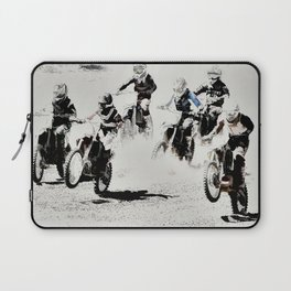 The Race is On  - Motocross Racers Laptop Sleeve