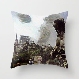 Nightmare at Garden (Bamberg) Throw Pillow