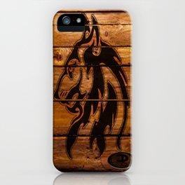 Darrell Merrill Nerd Artist: Wooden Wolf iPhone Case