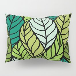 Flowing Leaves Pillow Sham