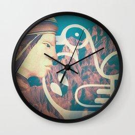 wild mountain Wall Clock