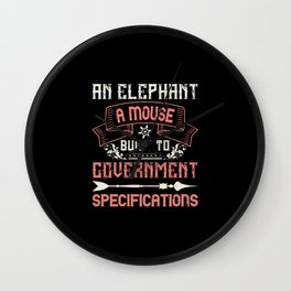 Elephant Quote - 06 Wall Clock