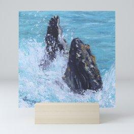Breaching Babies, Humpback Whales  Mini Art Print