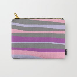 Gray Purple Lavender Brush Stroke Carry-All Pouch