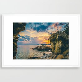 Skiathos Island Susnet Framed Art Print