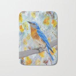 Springtime Eastern Bluebird Bath Mat