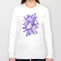 geode Long Sleeve T-shirts featuring Amethyst Watercolor by Cat Coquillette