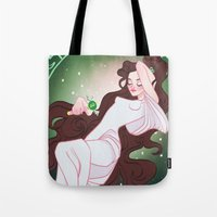 sailor jupiter Tote Bags featuring Sailor Jupiter by Dixie Leota