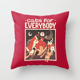 Cats for Everybody Throw Pillow