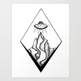UFO Launch Art Print