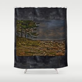 The Baltic Sea at Engure Latvia  Shower Curtain