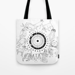 As Above, So Below - Zodiac Illustration Tote Bag
