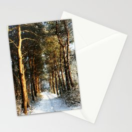 Forest Snow Scene Stationery Cards