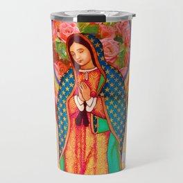 Rainbow Guadalupe Collage Travel Mug