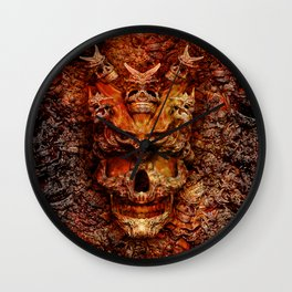 Red skull Wall Clock